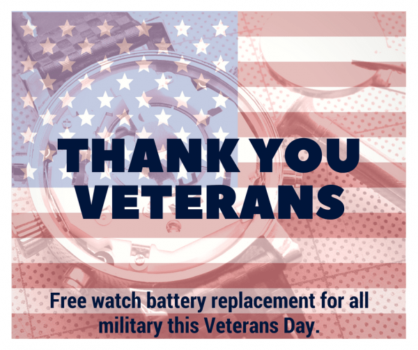 Free Watch Battery Replacements for Veterans This Saturday