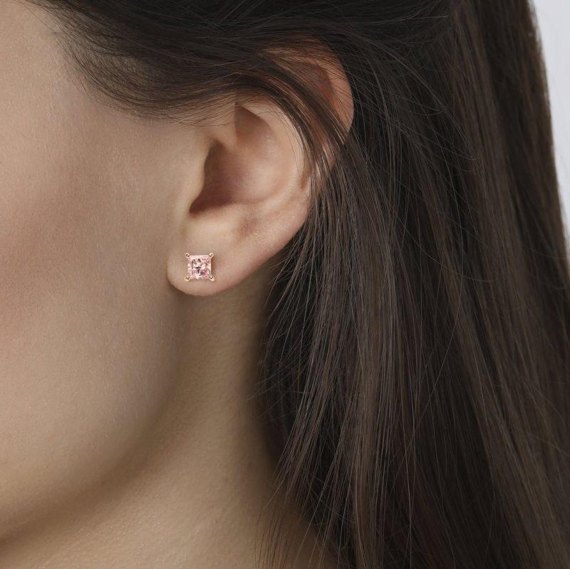 Pink Lab Diamond Princess Studs | Lightbox