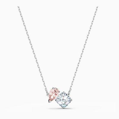 attract-soul-necklace--pink--rhodium-plated-swarovski-5517115